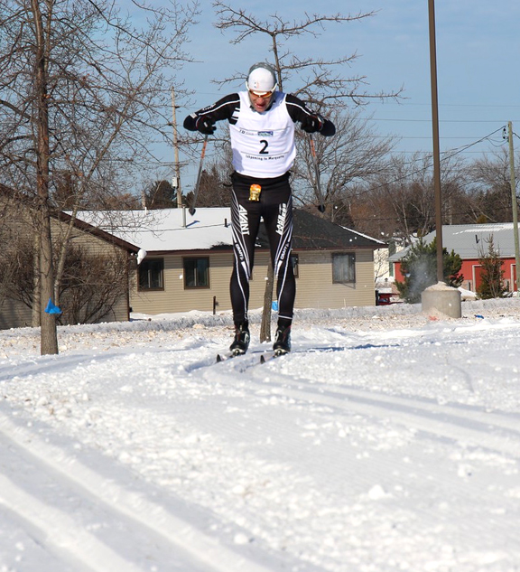 Chris Pappathopoulos Skiing to a Third Place Finish in the Noquemanon 50k Classic. [P] courtesy of CXC