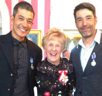 (l-r) Robin McKeever, Her Excellency Mrs. Sharon Johnston. Brian McKeever [P] courtesy of Robin McKeever
