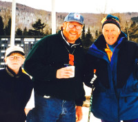 (l-r) Willy Graves, Peter Graves and Sven Wiik at World Masters in Lake Placid.[P] courtesy of Peter Graves
