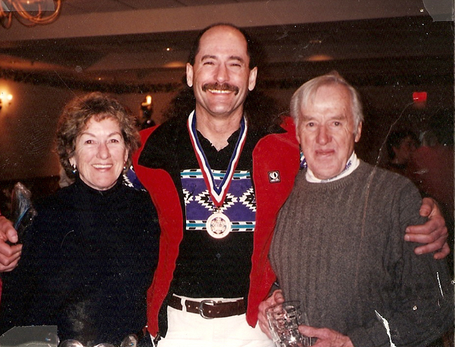 Birthe and Sven Wiik with long-time friend Tom Corbin [P] Wiik Collection