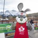 Klister, the Cross Country Ski Canada mascot [P] Pam Doyle