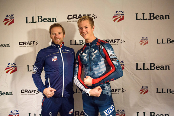 Andy Newell (l) and Erik Bjornsen [P] USSA