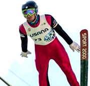 USANA nordic combined athlete Taylor Fletcher soars at the 2016 Springer Tournee at the Utah Olympic Park in Park City, UT [P] USSA