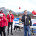 Director of High Performance for Cross Country Canada, Thomas Holland, introduces the Canadian National and ParaNordic ski team members [P] Pam Doyle