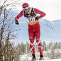 Brian McKeever, on the Para-Nordic World Cup team, races in the Frozen Thunder sprints at the Canmore Nordic Centre [P] Pam Doyle