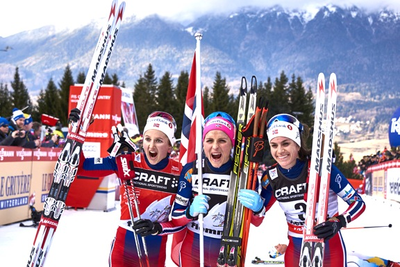 Last year's final women's podium [P] Nordic Focus