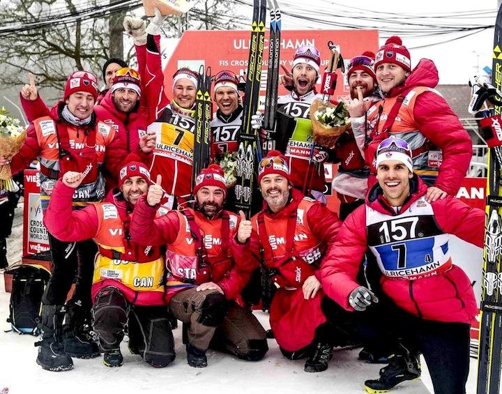 Team Canada celebrates [P] Nordic Focus