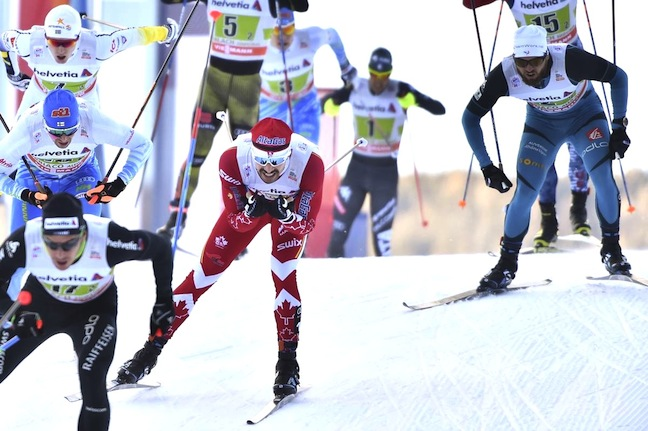 Alex Harvey (CAN) at the finish [P] Nordic Focus