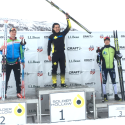 Junior Men's podium (l-r) McKenny 2nd, Jackson 1st, Beaulieu 3rd [P] Tom Kelly/USSA