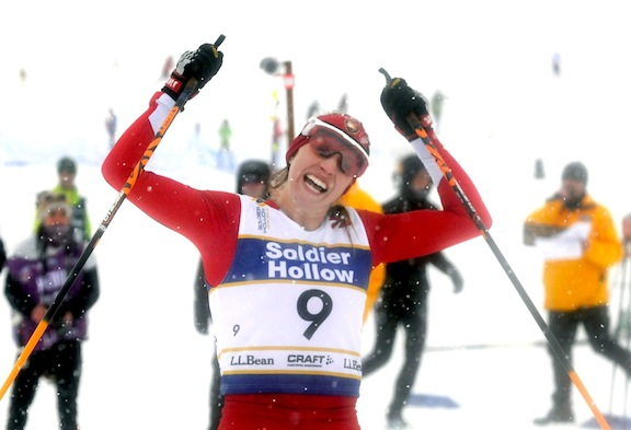 Jennie Bender wins Classic Sprint at L.L.Bean U.S. Cross Country Championships [P] Tom Kelly/USSA