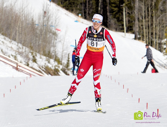 Emily Nishikawa wins the Senior Womens 30 km Mass Freestyle race [P] Pam Doyle