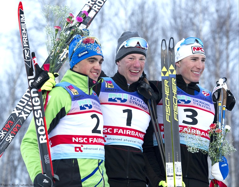 Men's Podium (l-r) Palmer-Charrette 2nd, Hanneman 1st, Kornfield 3rd [P] Lance Parrish, Fairbanks