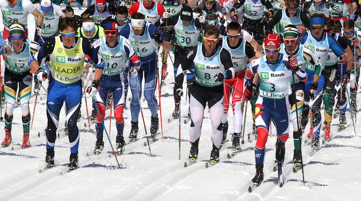 Men's 50km Classic start at the 2016 US Nationals [P] Herb Swanson