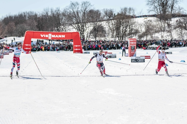 Klaebo, Dyrhaug, Harvey at the finish [P] Nordic Focus
