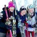Women's Podium (l-r) Randall 2nd, Diggins 1st, Flowers 3rd [P] Lance Parrish, Fairbanks