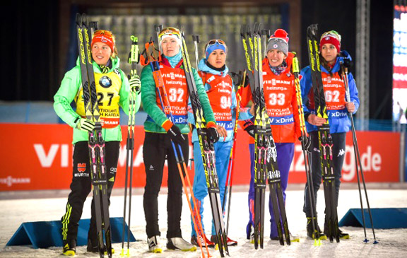 Women's 7.5km Sprint podium [P] Nordic Focus