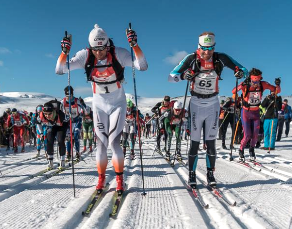Petter Northug and Brian Gregg at the start [P] Gusti Photography