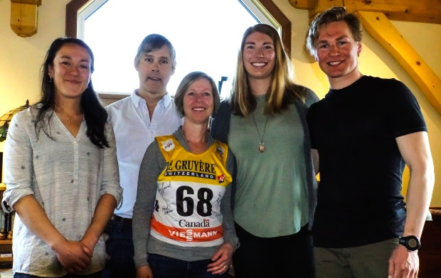 (l-r) Emily Nishikawa, Shawn Ryan, Cathy Wood, Dahria Beatty, and Knute Johnsgaard [P] Grant Abbott