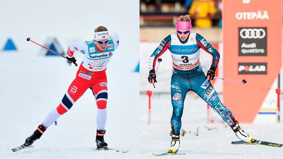 Astrid Uhrenholdt Jacobsen and Kikkan Randall [P] NordicFocus
