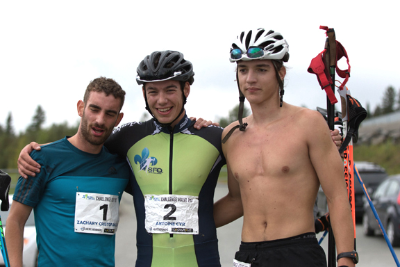 Men's winners (l-r) Cristofanilli 2nd, Cry 1st, Sarthou 3rd [P] Reese Brown