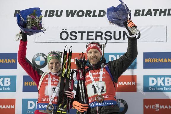 Lisa Theresa Hauser and Simon Eder win single mixed relay [P] Nordic Focus