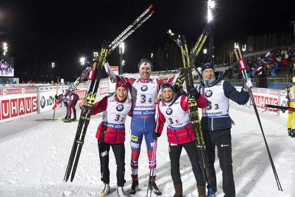 Norway took home the mixed relay crown [P] Nordic Focus
