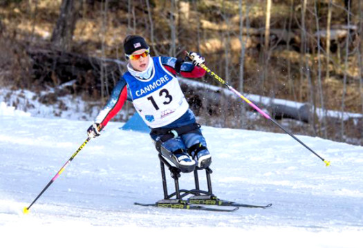 Masters capped off an exceptional biathlon competition with a third straight gold in Canmore [P] Pam Doyle